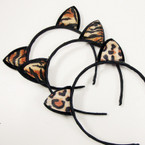 Animal Print Cat Ear Headbands .54 ea
