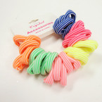 30 Pack Neon Stripe Ponytailers Mixed Colors .52 per set