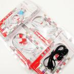 Blk & White Two Tone Stereo Ear Bud's 12 per pk  .58 ea