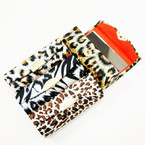 "3.5"" Mixed Satin Animal Print Lipstick Cases w/ Mirror .54 ea"