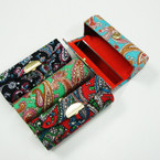 "3.5"" Mixed Paisley Print Lipstick Cases w/ Mirror .54 ea"