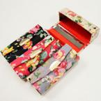 "3.5"" Mixed Flower  Print Lipstick Cases w/ Mirror .54 ea"