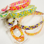 CLOSEOUT Citrus Color Barrette & Headband Sets .25 per set
