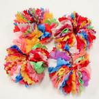 CUTE Multi Color Cut Fabric Hair Scrungi 24 per pk @ .25 ea