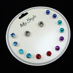 7 Pair Stud Earring Set As Pictured .52 per set