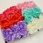 Popular 3 Big Flower Headband w/ Elastic Back .54 ea