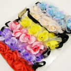 Popular Gradiant Color Tulip Flower Headband w/ Elastic Back .54 ea