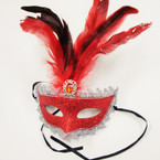Great Value Sparkle Party Mask w/ Feather Asst Colors .58 ea