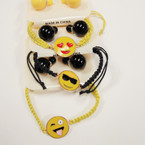 Macrame Emoji Theme Bracelets w/ Ball Earrings  .54 per set