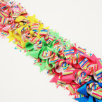 "5"" Layered Multi Ribbon Gator Clip Bows w/ Stripes  .54 ea"