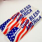 "CLOSEOUT 3"" X 10"" God Bless America Bumper Stickers 100 per pk .08 ea"