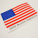 "SPECIAL 5.5"" X 8"" God Bless America Stickers 12 per pk @ .12 ea"
