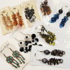 CLOSEOUT 18 Pk Mixed Earrings As Shown .18 ea
