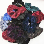 CLOSEOUT 26 Pk Asst Style Dark Color Scrungi ONLY .20 ea