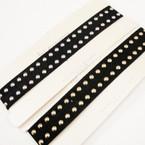 Trending Velvet Choker Necklace w/ Gold/Silver Studs .54 ea
