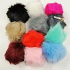 "4.5"" Lg. Pom Pom Faux Fur Keychain/Purse Charm .75 ea"