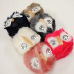 "4"" Lg. Pom Pom Faux Fur Keychain/Purse Charm OWL Theme .89 ea"