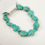 Popular Turquoise Stone Stretch Turtle Bracelets  .54 ea