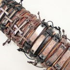 Teen Leather Bracelets w/ Lord's Prayer Spanish  .54 ea