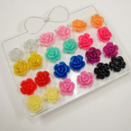 12 Pair Sparkle Flower Colorful Earrings .50 per set