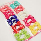 "10 Pk  2"" Gator Clip Bows w/ Daisy Flower  Print .54 per set"