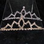 Gold & Silver Rhinestone Tiara Headbands Clear Stones  .65 ea