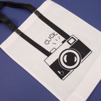 """SPECIAL 12"""" X 15"""" White Camera Theme Tote Handled Bags .54 ea"""