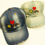 Best Quality Stone Washed Denium Baseball Caps  Embroided Design $ 3.00 ea