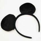 Popular All Black Mouse Ear Headbands .54 ea