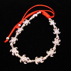 11 PC Cast Silver Turtle Red Cord Bracelets .54 ea