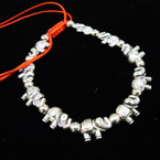 11 PC Cast Silver Elephant Red Cord Bracelets .54 ea