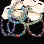 10MM Mixed Color Glass Beaded Stretch  Bracelets .54 ea