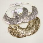 """4.5"""" Jumbo Gold & Silver Hammered Look Hoop Earrings .50 ea"""