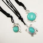 "18"" Black DBl Suede Cord Necklace w/ 3 Style Nautical Pendants  .54 ea"