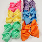 "3.5-4"" New Color Pastel Mix Gator Clip Fashion Bow .27 ea"