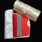 Beautiful Gold & Silver Pattern Lipstick Case w/ Mirror .54 ea