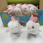 "3"" White Wind Up Easter Bunny 12 per display bx  .56 ea"