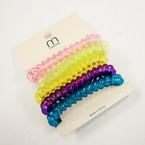 5 Pk Asst Color Phone Coil Bracelets/Ponytailers .50 per set