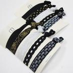 6 Pk 2 Style Mix Elastic Bracelet/Ponytailer .54 per set