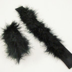 "9"" All Black Faux Fur Slap Bracelets 24 per pk .39 each"