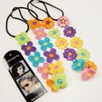 Popular Multi Color Crocheted Headband w/ Elastic Back 2 styles .56 ea