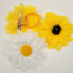 "4"" Multi Layer Sunflower Bow 3 in 1 Use 2 colors .54 ea"