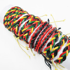 Teen Leather Bracelets Rasta Mix as shown .52 ea