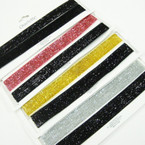 2 Pk Sparkle Fabric Choker Necklace Set Mixed Colors .54 ea  set