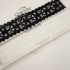 "1.5"" Wide Black & White  Lace Choker Necklace  .54 ea"