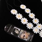 All White Trendy Daisy Headbands w/ Elastic Back  .54 ea
