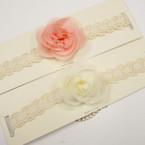 Vintage Look Ivory Lace Choker Necklace w/ Flower  .54 ea
