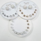 Cry. Stone Fireball Earring Sets .54 per set