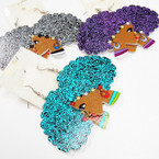 "2.5"" Mixed Color Wood Fashion Lady Earrings w/ Large Hair .54 ea"