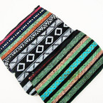 "4.5"" X 7.5"" Aztec Print Zipper All Purpose Bag .54 each"